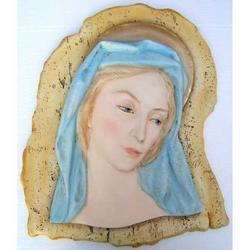 Capezzale Volto di Maria in gesso cm 44x37