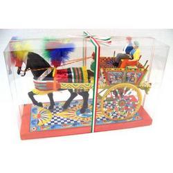 Carrettino Siciliano in box trasparente cm 34.5x22.5x14.5