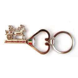 Portachiave Carretto Siciliano in metallo cm 6x3