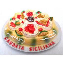 Cassata Siciliana souvenir magnete da frigo cm 7x5