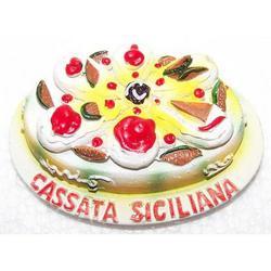 Cassata Siciliana Souvenir con magnete in resina cm 6.5x4.5