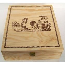 Cassetta in legno 35x29x10 cm