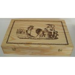 Cassetta in legno 53x35x10 cm