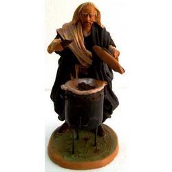 Personaggio per Presepe Castagnaro cm 15 terracotta e stoffa