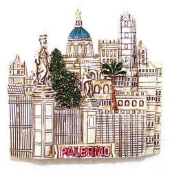 Cattedrale di Palermo in resina con magnete cm 6x6