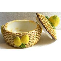Cofanetto con limoni in resina cm 8x8x8
