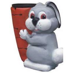 Coniglio Portavaso cm 60 in vetroresina