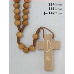 Coroncina in legno di ulivo con grano da 7 mm