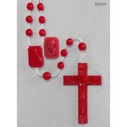 Coroncina Rosario in plastica con grano da 5 mm