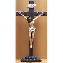 Cristo Crocifisso in resina da appoggio cm 80x40
