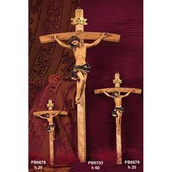 Croce in legno con Cristo in resina cm 25