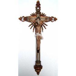 Crocifisso resina in stile barocco cm 65x34