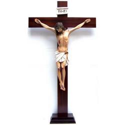 Corpo di Cristo in resina su Croce in legno da cm 106x60