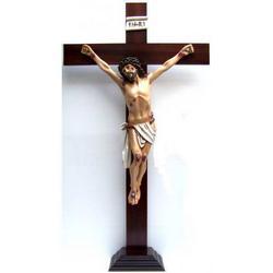 Croce e base legno cm 126x70 e Cristo resina cm 79x54