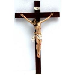 Crocifisso di legno cm 38x23 e Cristo resina cm 23x17