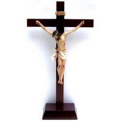 Croce con base di legno cm 42x23 e Gesu cm 24x17 in resina