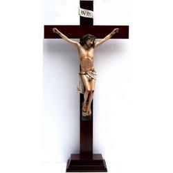 Croce da appoggio legno cm 71x35 e Cristo resina cm 40x27