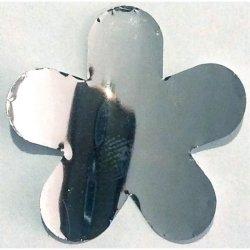 Diadema Fiore Argentato misura 1 confezione da 5 pezzi