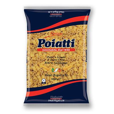 Pasta Ditali rigati N 30 Poiatti da Kg 1