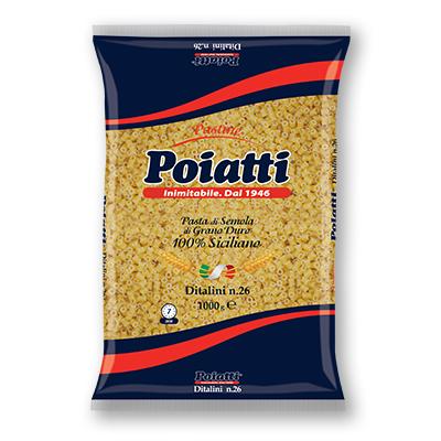 Pasta Ditali Poiatti N 26 da Kg 1