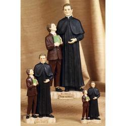 Statua Don Bosco con Domenico Savio cm 12 resina