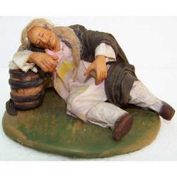 Personaggio per Presepe Dormiente cm 12 terracotta e stoffa