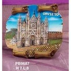 Magnete pergamena con Duomo di Orvieto cm 8x7