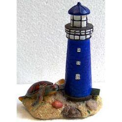 Faro con tartaruga in resina cm 12x8.5x5