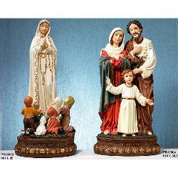 Statua Madonna di Fatima con pastorelli cm 61 resina