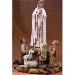 Statua Madonna di Fatima con pastorelli cm 20x15