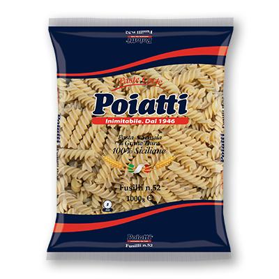 Pasta Fusilli N 52 Poiatti da kg 1