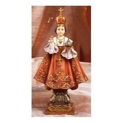 Statua Sacra di Gesu Bambino di Praga cm 11 resina