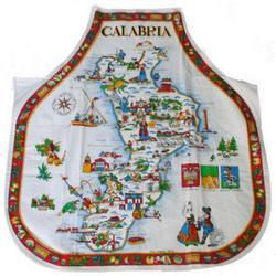 Grembiule con Calabria in cotone