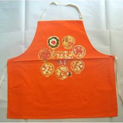 Grembiule con Pizza colore arancione