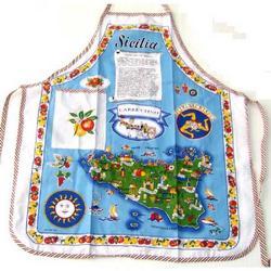 Grembiule in tessuto con Sicilia cm 56x72