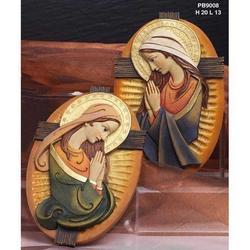 Icona Madonna cm 20 in resina Set 2 pz assortiti