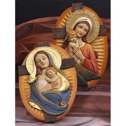 Set 2 pezzi Icona Maternita cm 20 in resina