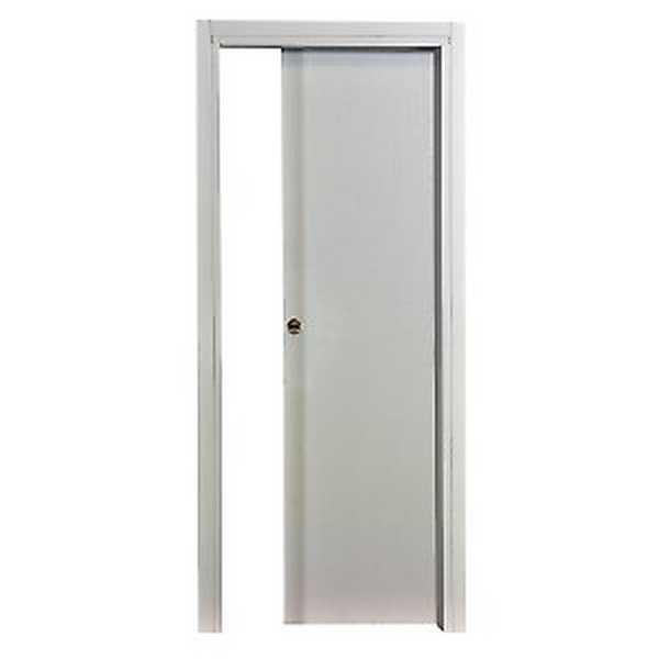 Porta da interno scorrevole Renoir bianco venato 80 x H 210 cm r ...