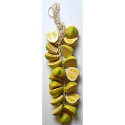 Treccia con limoni in terracotta cm 40