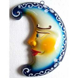 Luna in ceramica cm 15x8