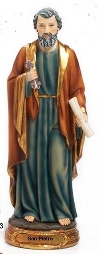 Statua San Pietro cm 30 in resina