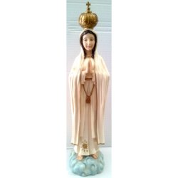 Statua Madonna di Fatima cm 50 in resina