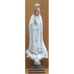 Statua Madonna Fatima in resina cm 44