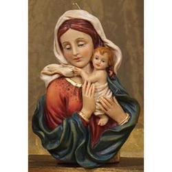 Icona Madonna con Bambino cm 18 in resina