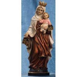 Madonna del Carmine cm 14.5 in resina