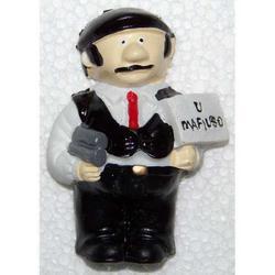Mafioso Souvenir in resina con calamite cm 6x5