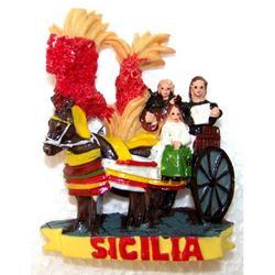 Magnete Carretto Siciliano in resina cm 7x5