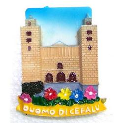 Magnete Duomo di Cefalu cm 6x7 in resina