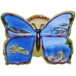 Magnete Farfalla Favignana in resina cm 7