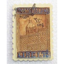 Magnete francobollo Palermo cm 7x5 in resina